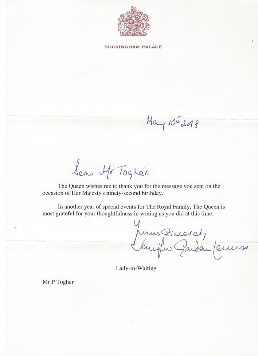 Queen Birthday 92nd