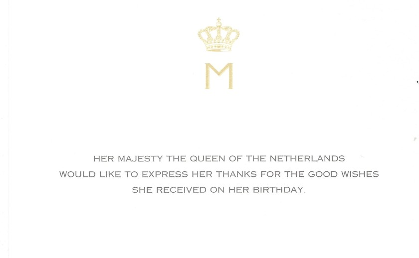 Queen Birthday 2018 netherlands
