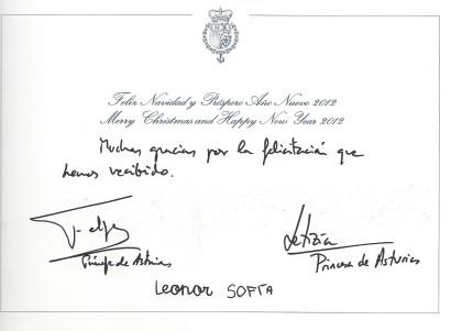 christmas 2011 signatures Spain