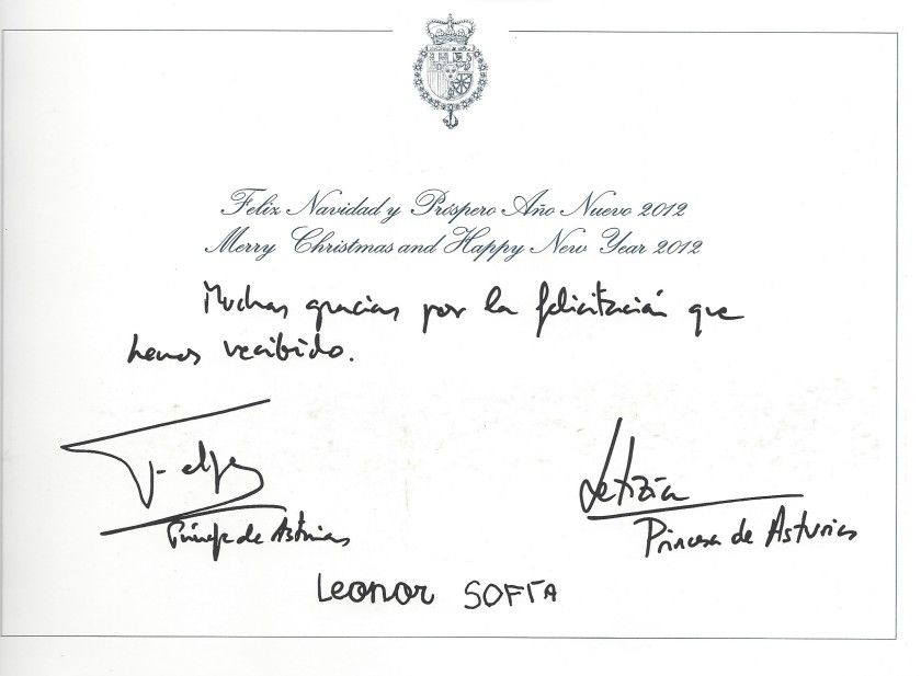 christmas 2011 signatures Spain