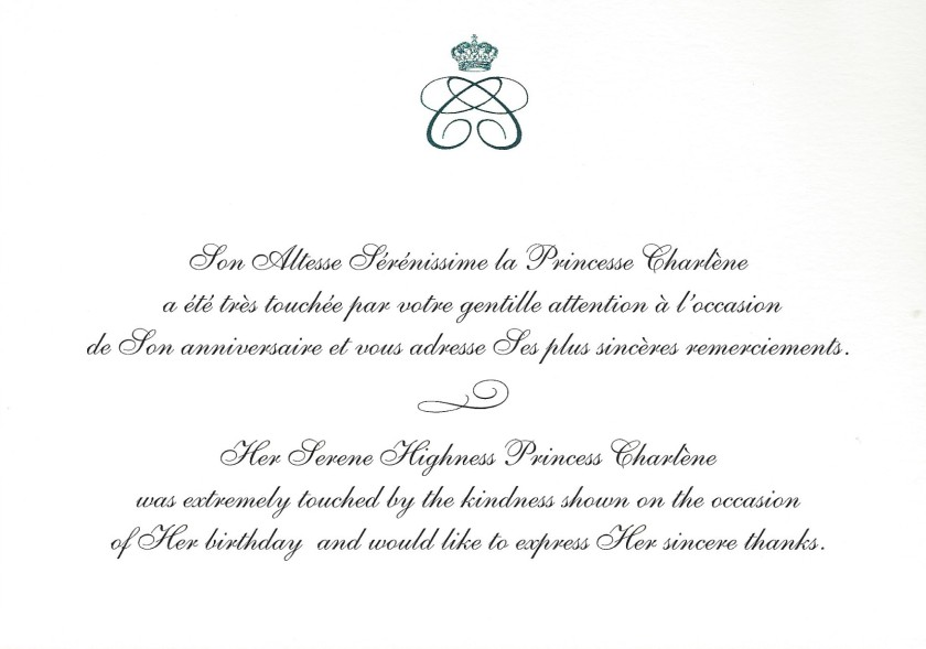 Princess Charlene Birthday