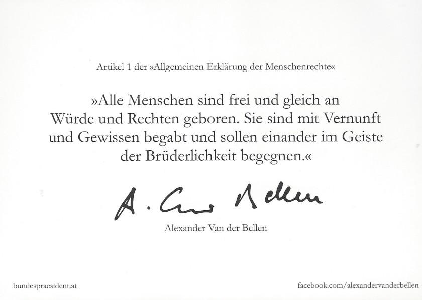 Austrian President Pic Back
