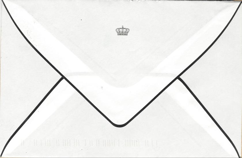 Passing of Princess Alix envelope reverse