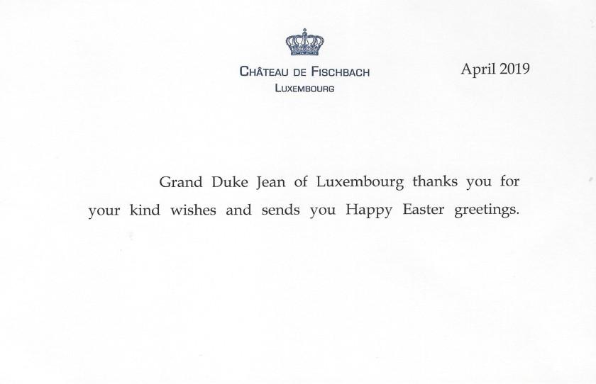 Grand Duke Jean Easter