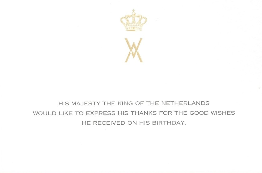 King of the Netherlands Birthday