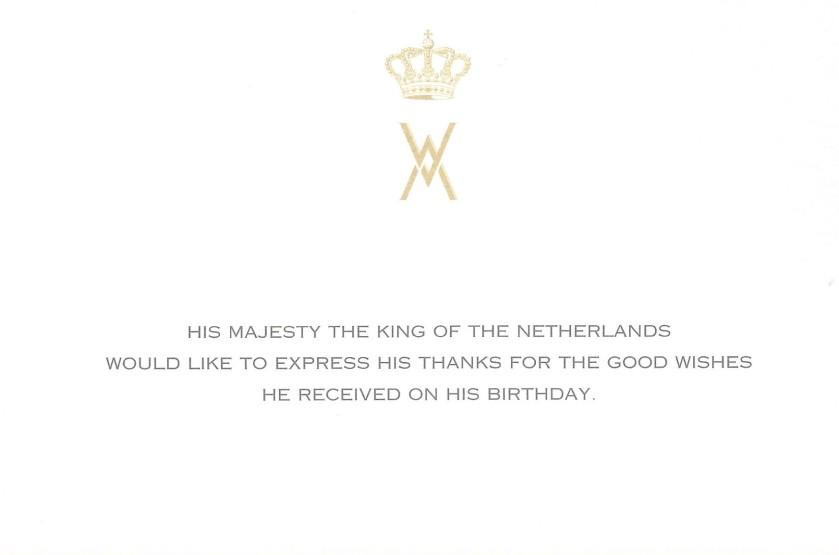 King of the Netherlands Birthday