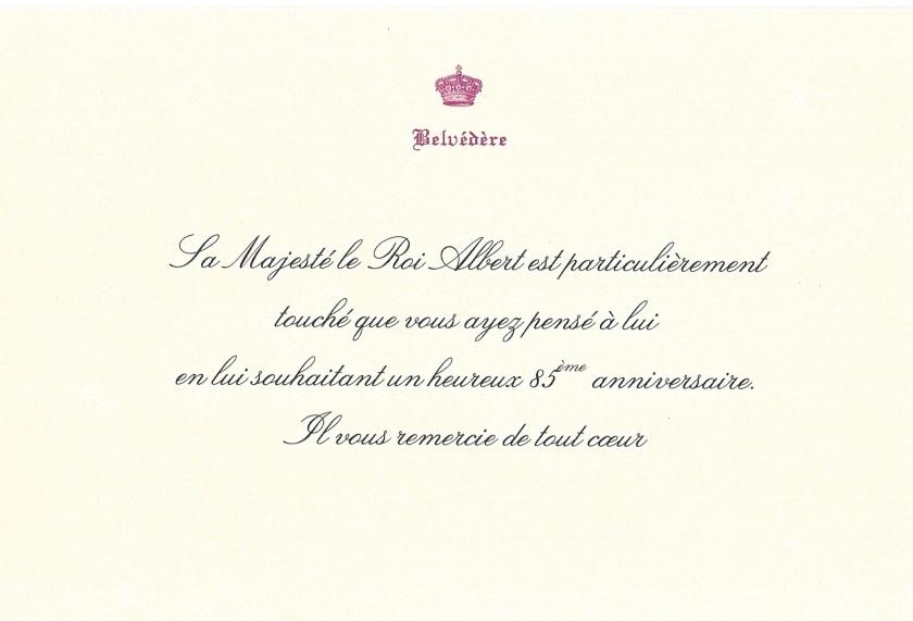 King Albert II 85th Birthday
