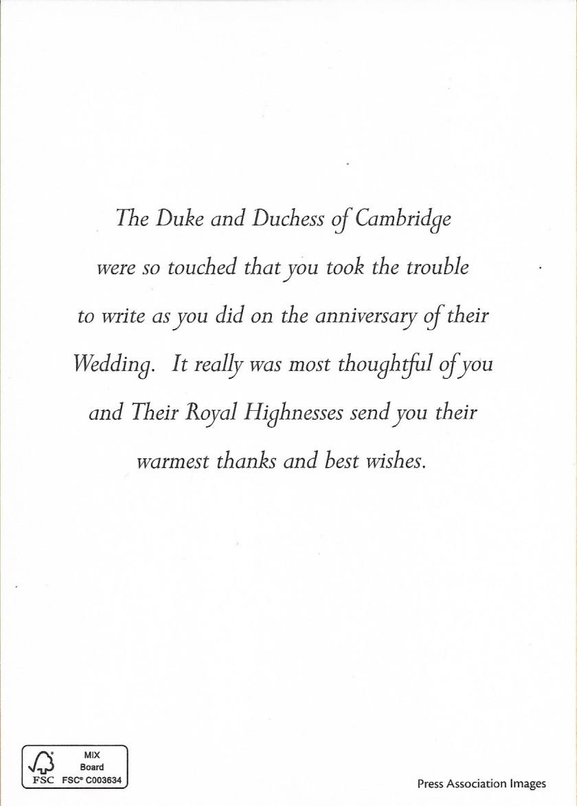 Cambridge Anniversary Message