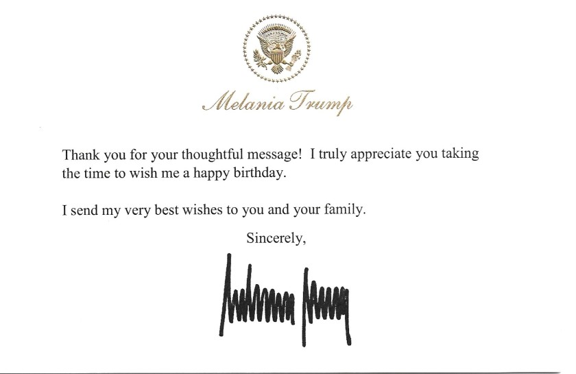 Melania Trump Birthday