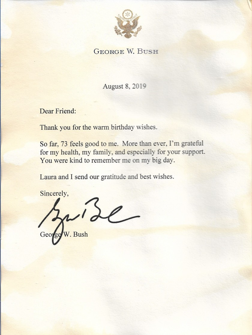 George W Bush 73rd Birthday Letter