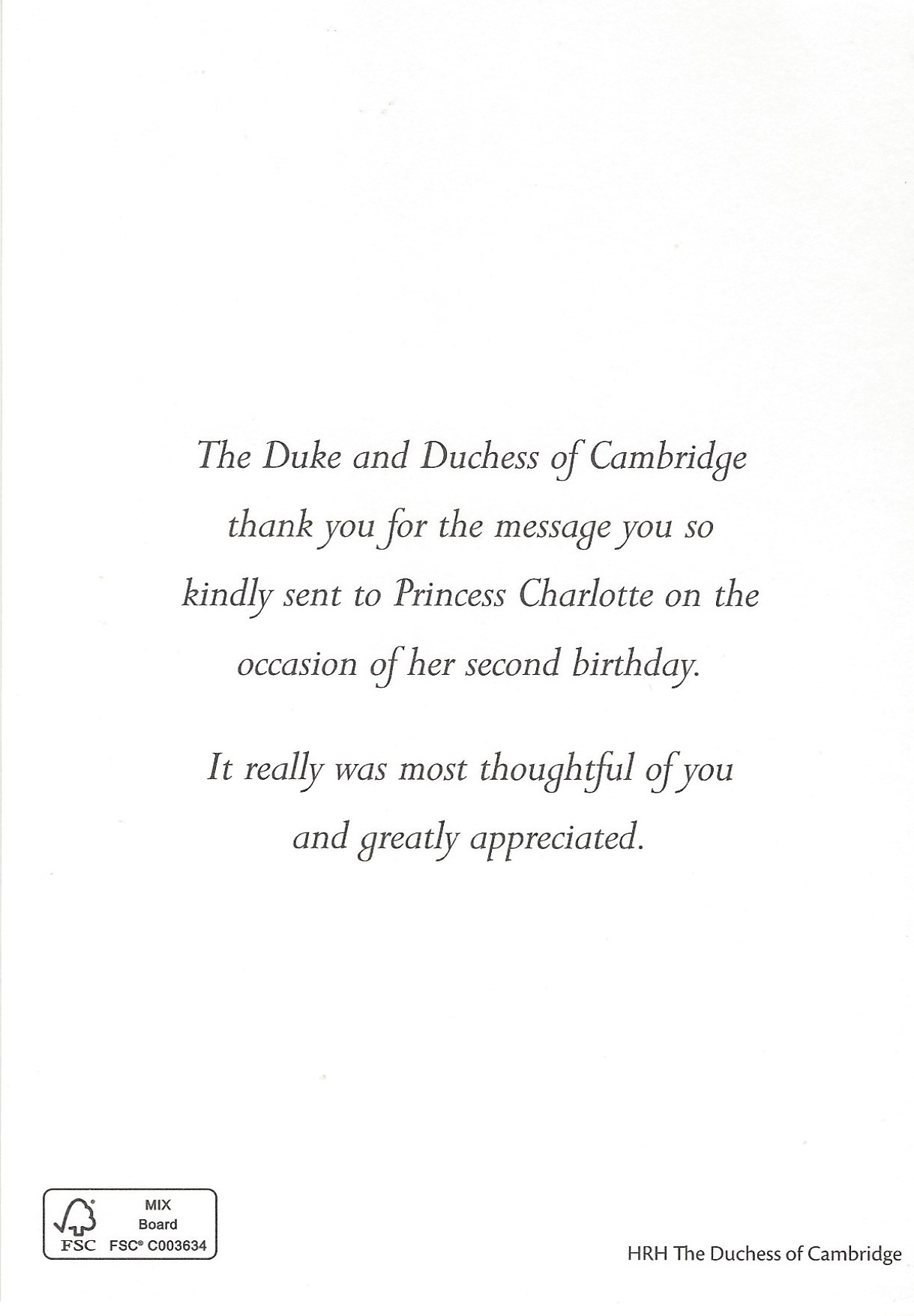 Charlotte 2nd Birthday Message
