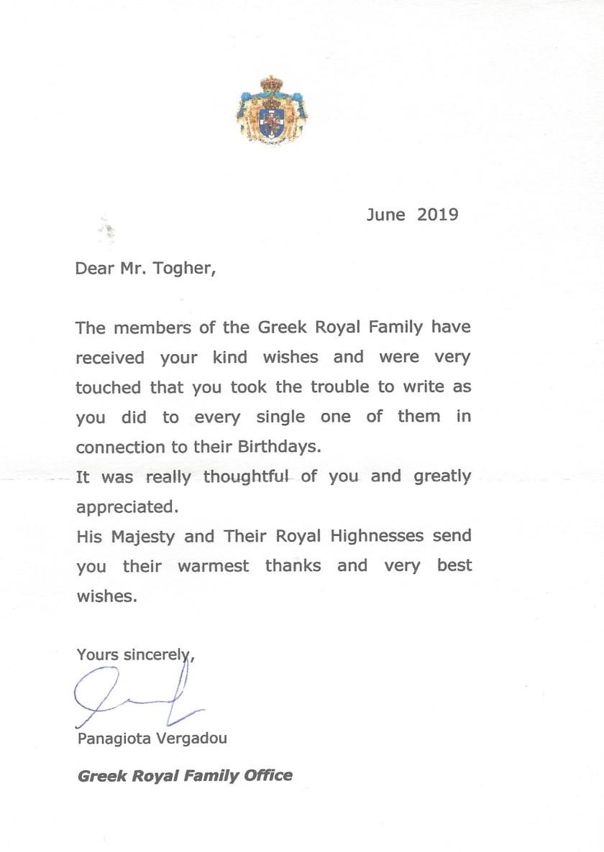 Greece Letter