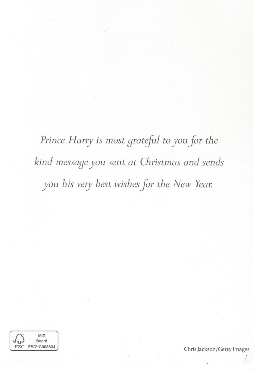 Harry Christmas 2014 Message