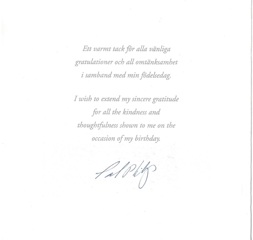 Prince Carl Philip 40th Birthday Message