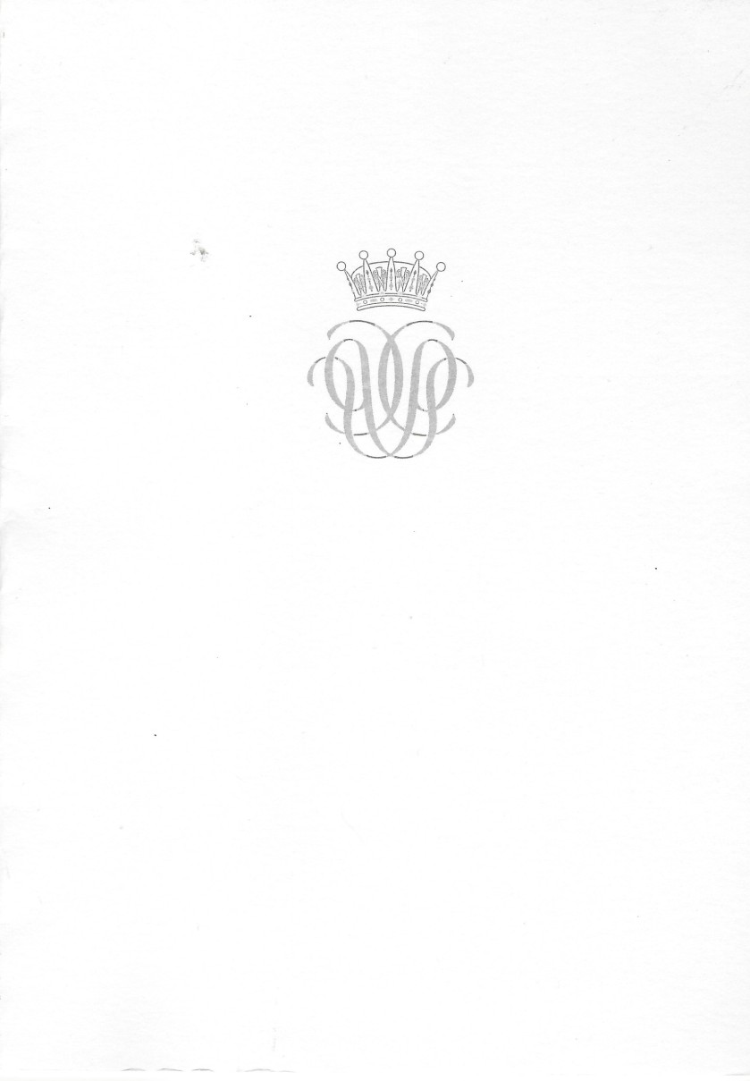 Sophia and Carl Philip Wedding Card Front