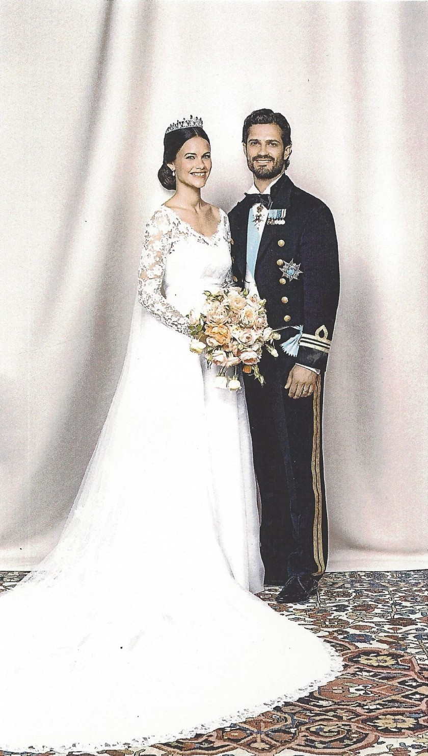 Sophia and Carl Philip Wedding Card Picture close up
