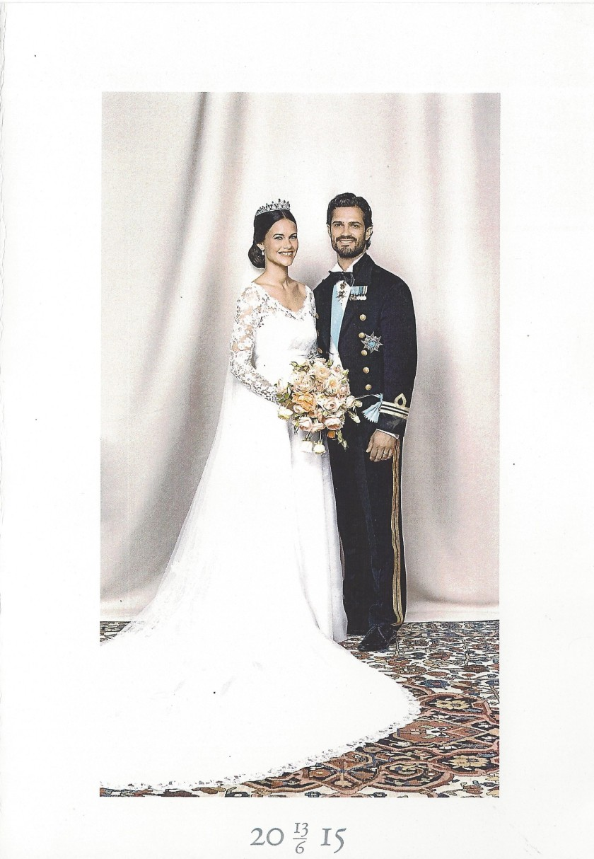 Sophia and Carl Philip Wedding Card Picture