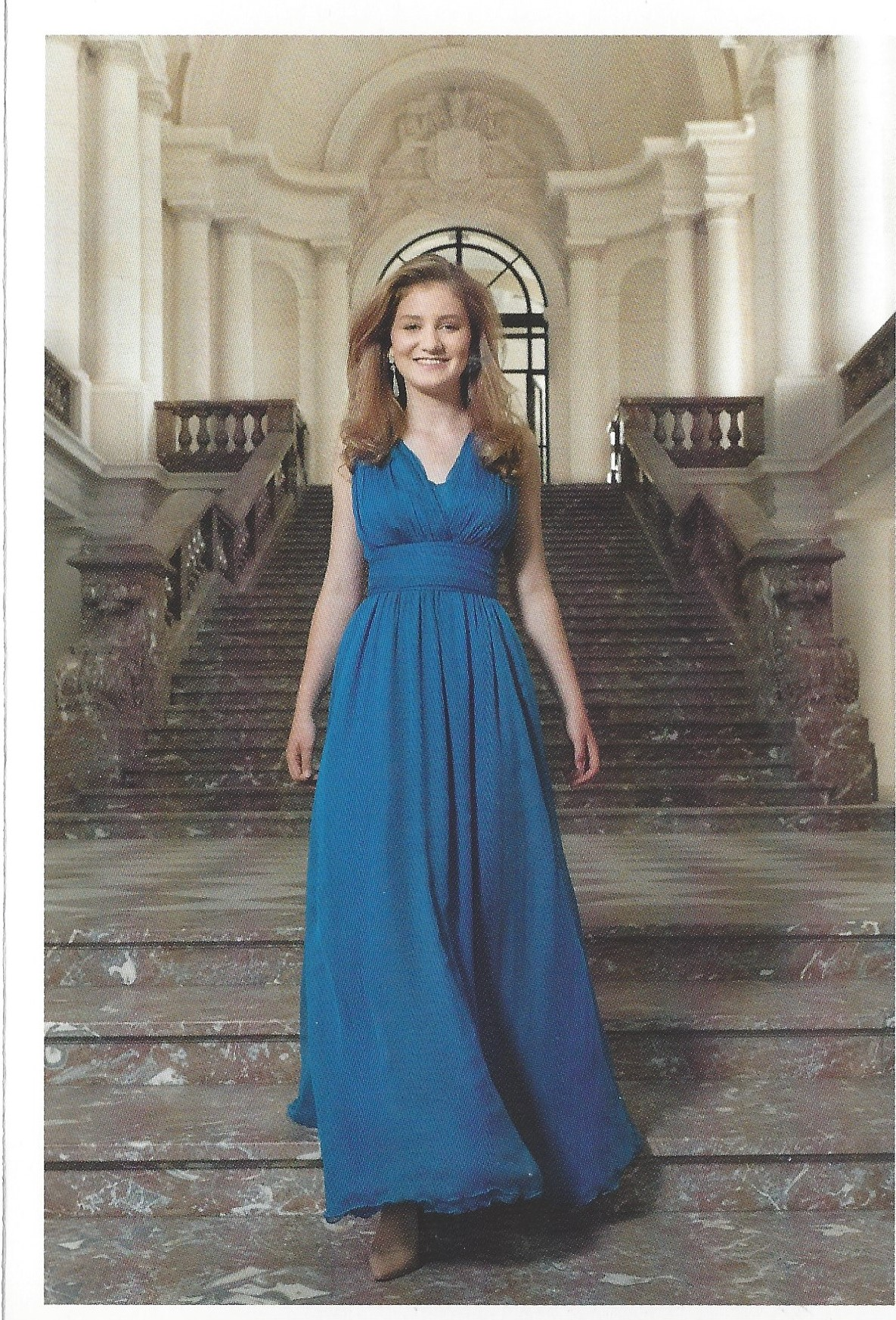 Duchess of Brabant Card Blue Dress