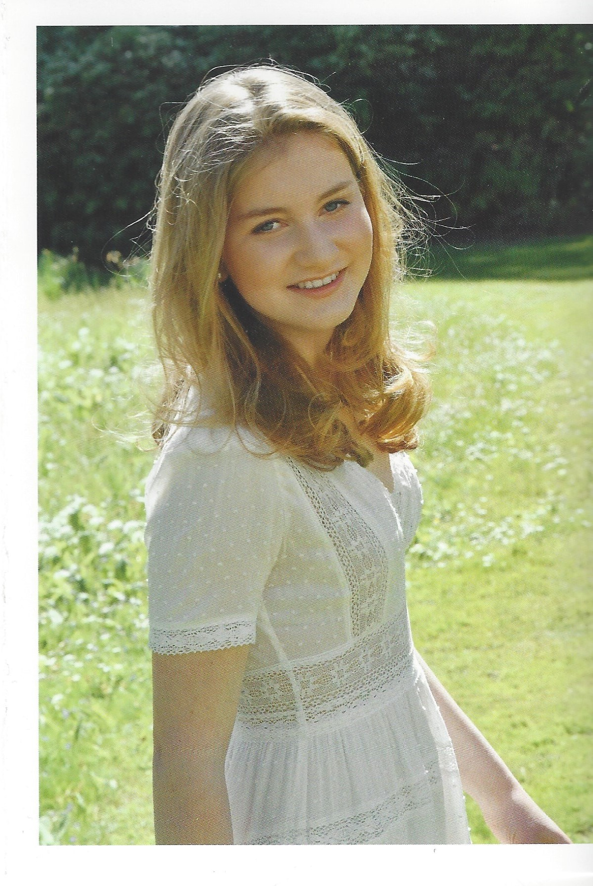 Duchess of Brabant Card White Dress