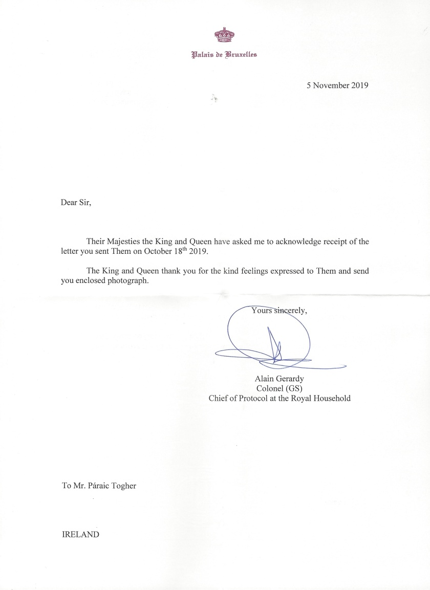 Letter from The King and Queen_LI belgium