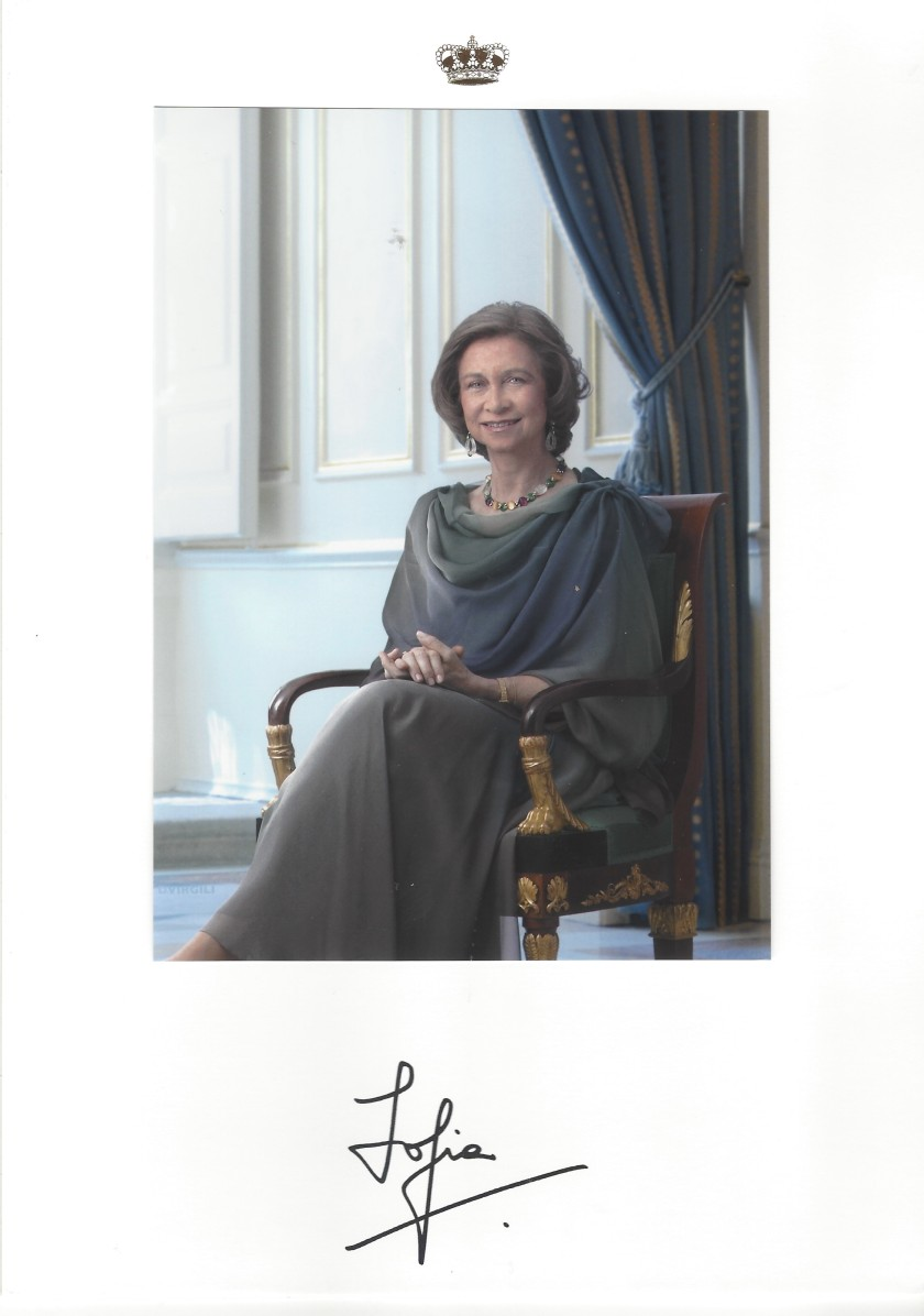 Queen Sofia Signed Picture