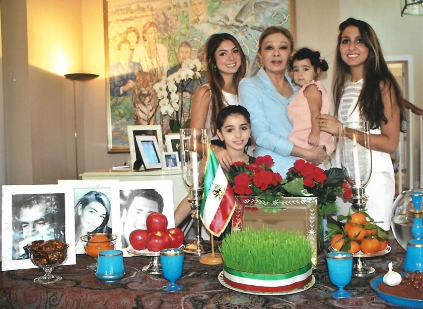 Empress of Iran Christmas Picture