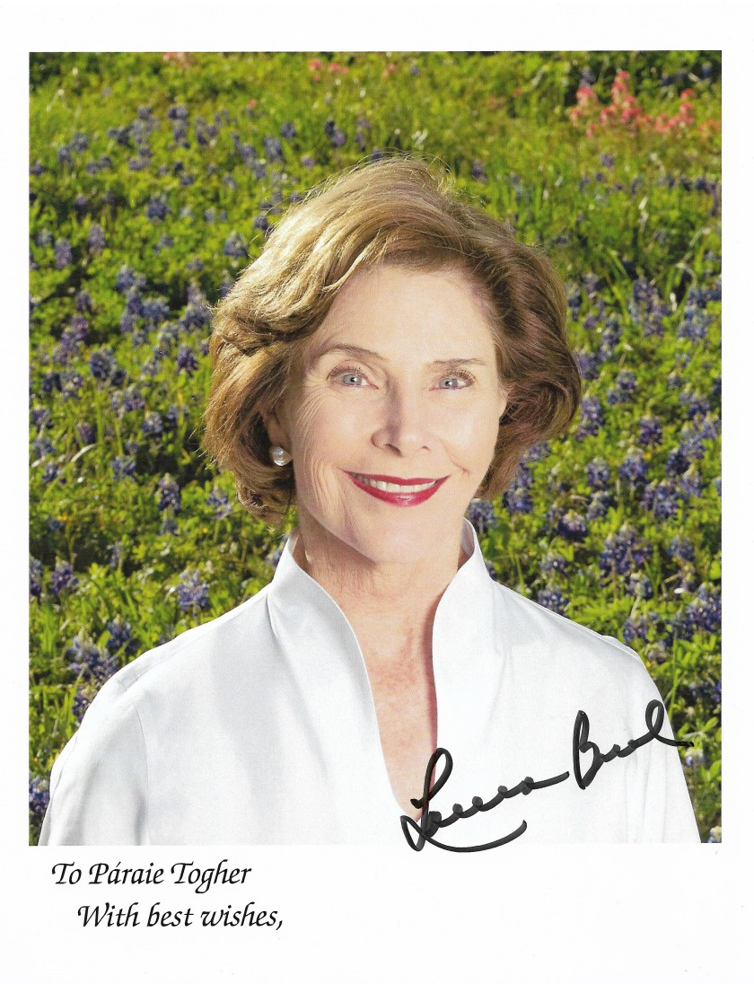 Laura Bush Autograph Photo