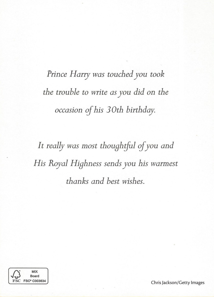 Harry Birthday Message