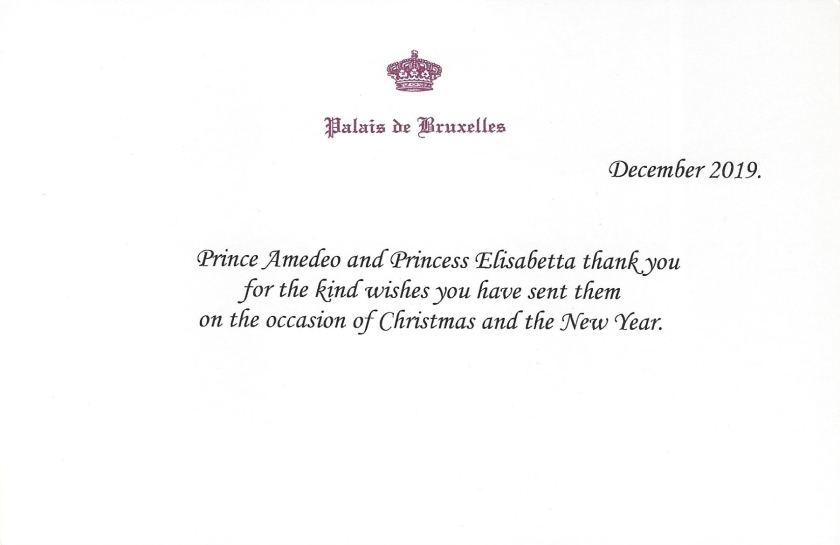 Prince Amedeo and Princess Elsiabetta Christmas