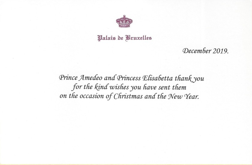 Prince Amedeo and Princess Elsiabetta Christmas