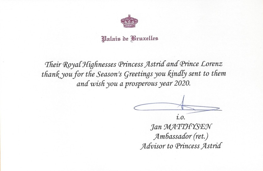 Prince Lorenz and Princess Astrid Christmas