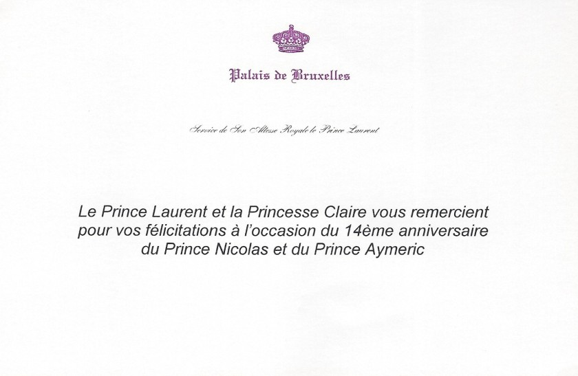 Prince Nicolas and Prince Aymeric Birthday