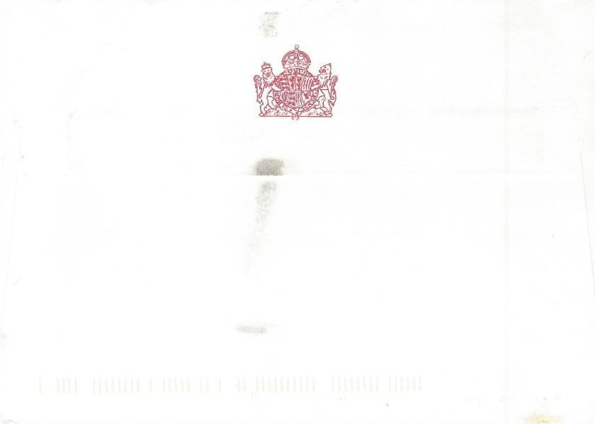 Queen Mother Envelope Reverse