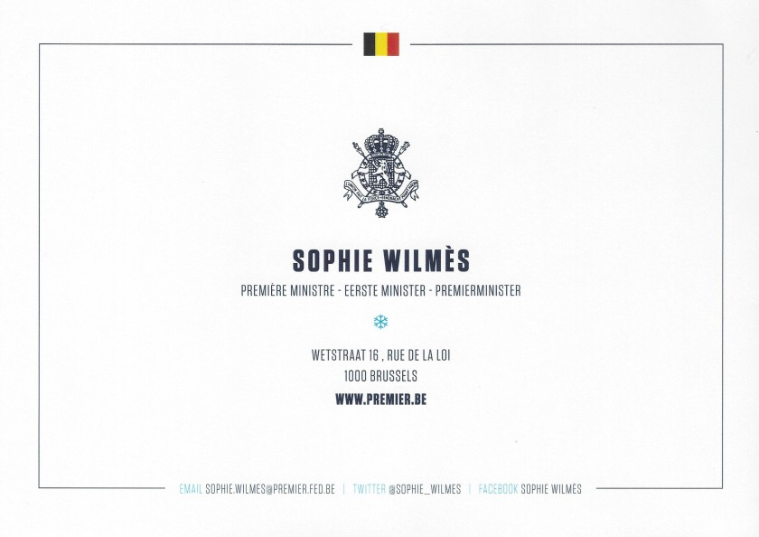 Sophie Wilmes Christmas Card Reverse