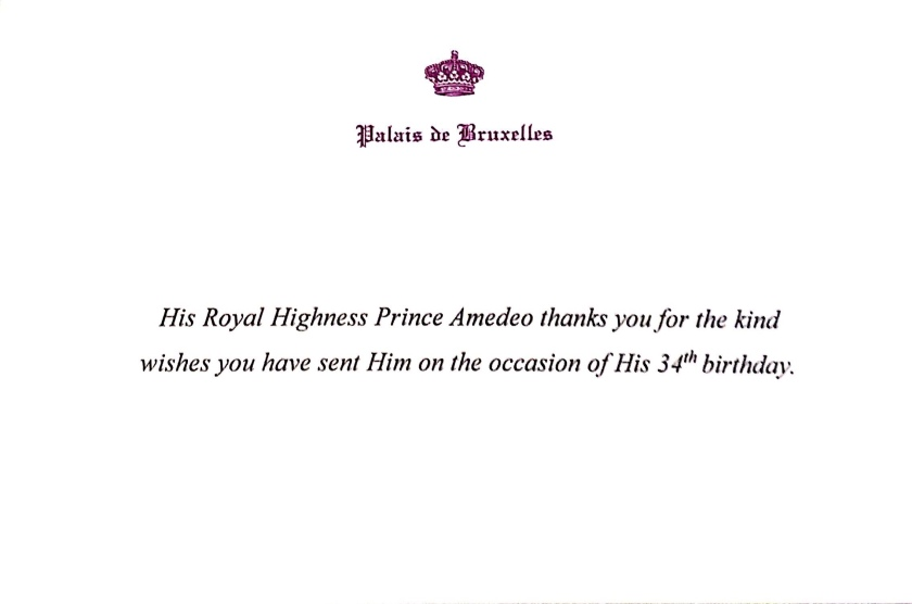 Prince Amedeo 34th Birthday