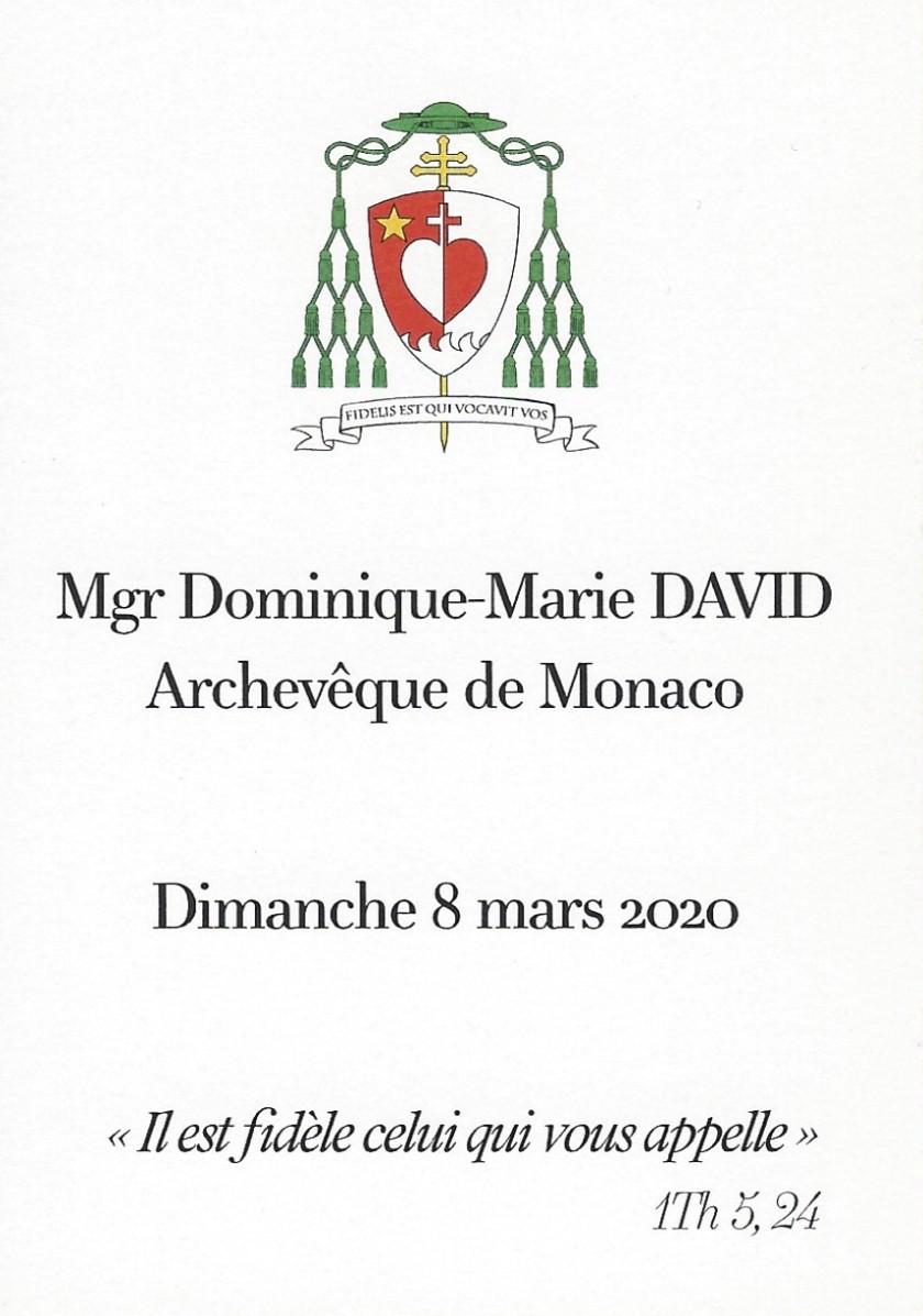 Archbishop of Monaco Card Reverse