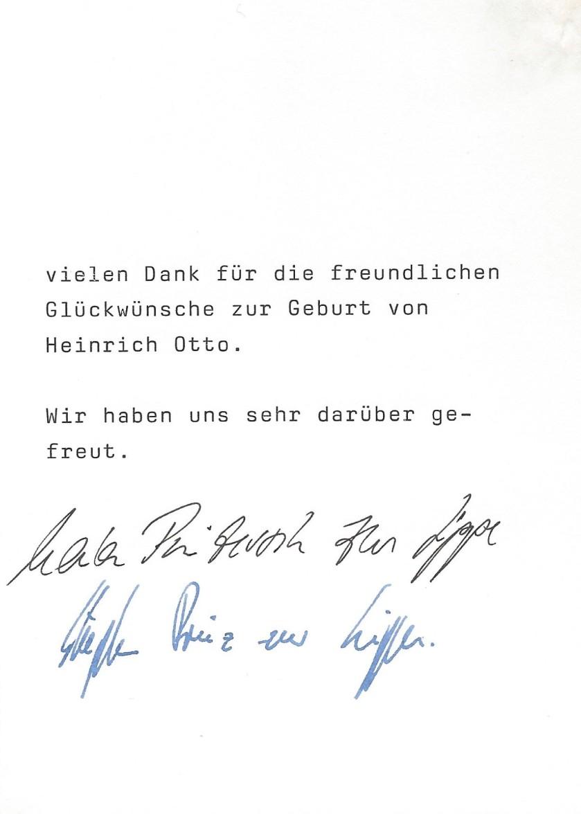 Message birth of Heinrich Otto