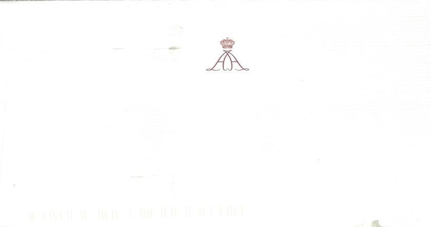 Prince Albert's Envelope Reverse