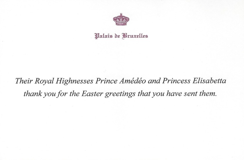 Prince Amedeo and Princess Elisabtta Easter