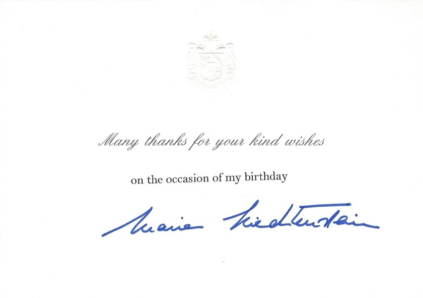 Princess of Liechtenstein Birthday