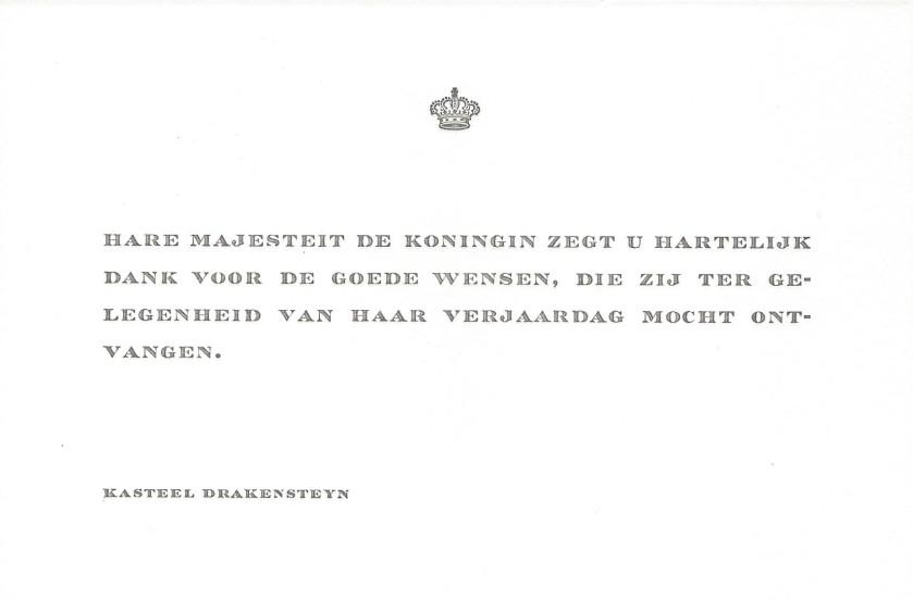 Queen Beatrix Birthday