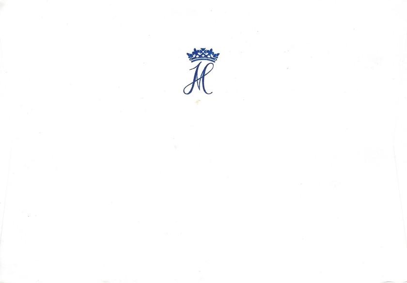 Archie Christening Sussex Envelope Reverse