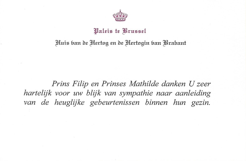 Birth of Prince Emmanuel of Belgium Card