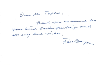 Franz, Duke of Bavaria Easter Card Message