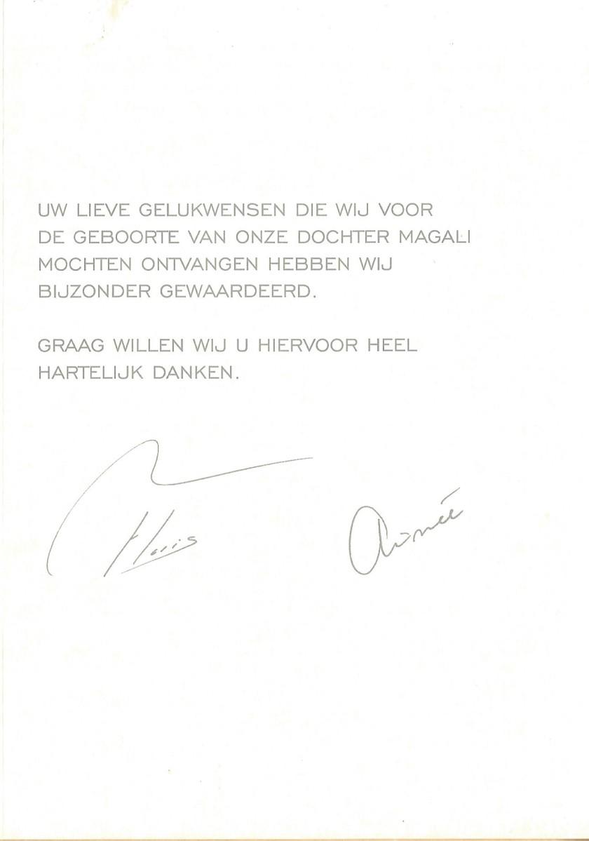 Magali van Vollenhoven Birth Message
