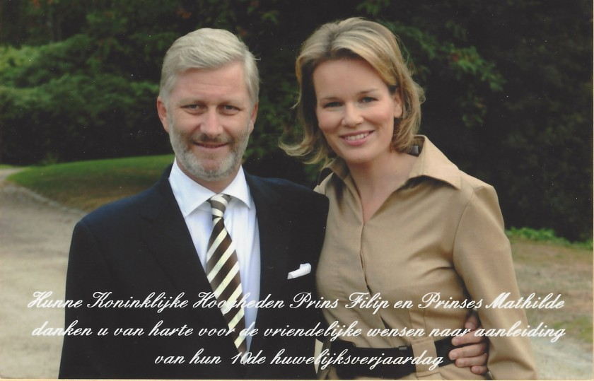 Philippe and Mathilde, The King and Queen of The Belgians 10th Wedding Anniversary