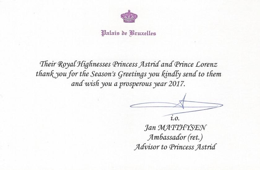 Prince Lorenz and Princess Astrid Christmas 2016