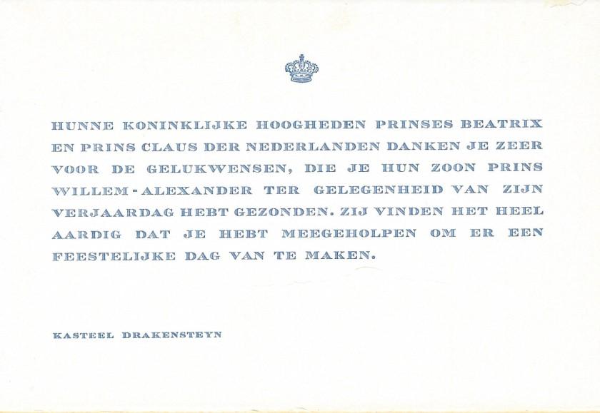 Prince Willem-Alexander
