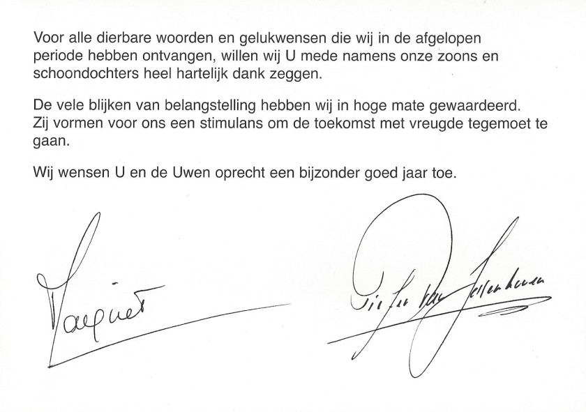 Princess Margriet and Peter 40th Wedding Anniversary Message
