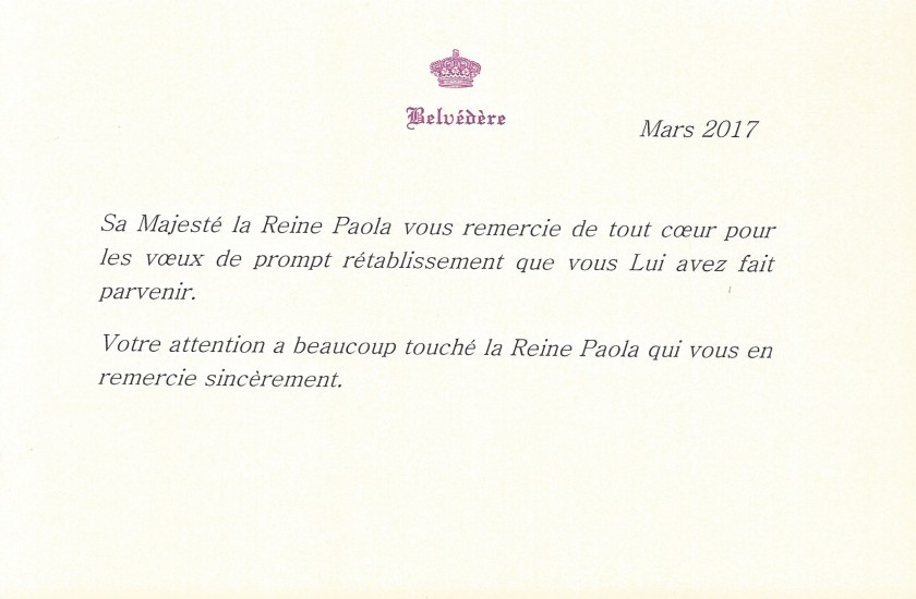 Queen Paola of Belgium Recovery